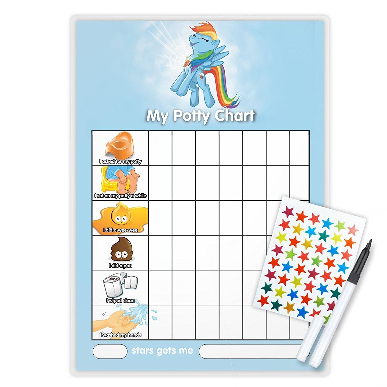 My Little Pony Rainbow Dash Potty Toilet Training Reward Chart