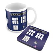 Doctor Who Tardis Mug and Coaster Set