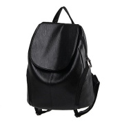 BOAOGOS Women Bags All Seasons PU Backpack for Casual Black,Black