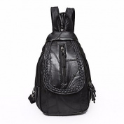 BOAOGOS Women Bags All Seasons Backpack Buttons for Casual Black,Black