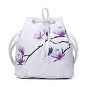 BOAOGOS Women Bags All Seasons PU Backpack Rivet for Event/Party Formal Outdoor Office & Career White Black Red,White