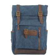 BOAOGOS Men Bags All Seasons Canvas Backpack Zipper for Casual Outdoor Blue Green Khaki,Blue