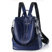 BOAOGOS Women Bags All Seasons PU Backpack for Casual Office & Career Blue Black Wine,Blue