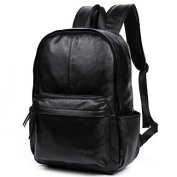 BOAOGOS Men Bags Cross-Seasons Casual/Daily Backpack Smooth for Office/Career Casual Formal Black,Black