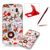 Clear Case for Samsung Galaxy S6,Soft Gel Cover for Samsung Galaxy S6,Herzzer Stylish Ultra Slim Christmas Series Christmas Paradise Printed Shockproof Flexible TPU Rubber Silicone Case