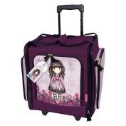 Santoro Gorjuss Sugar and Spice Wheelable Craft Tote, Canvas (bag), Pink, 49.1 x 37.4 x 28.3 cm