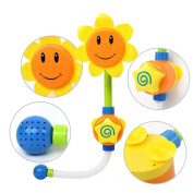 Ouneed Baby Bath Toys Sunflower Water Shower Spray Bathing Tub Fountain Toy