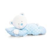 Keel Toys Baby 30cm Blue Bear On Pillow Plush Toy (30cm)