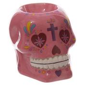 Pink Candy Skull Day Of The Dead Ceramic Oil Burner