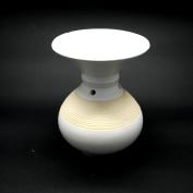 Round Ceramic Oil Burner With Rope Design