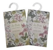 Pair of Mini Wardrobe Fragrance Sachets - Sage and Jasmine