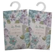 Pair of Mini Wardrobe Fragrance Sachets - Poppy and Bluebell