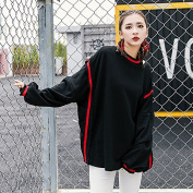Malilove Are All-Match Loose And Long Sleeve Pure Colour Long Paragraph Sweater Female F Code