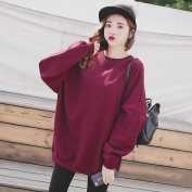 Malilove The Code In The Long Loose Fashion Female Cotton Round Neck Sweater