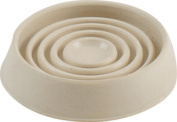 Shepherd 9165 Smooth Caster Cup, 2.5cm - 1.3cm Dia, Round, Off White