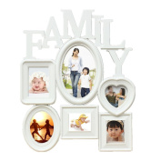Bluelans® White Wall Hanging Family Photo Frame Milti Picture Holder