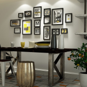 Simple Solid wood Photo wall Creative Living room Photo Frames wall Multi Picture Photo Frames combination