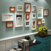 Creative Solid wood Photo wall pastoral Style Living room Photo Frames wall Multi Picture Photo Frames combination