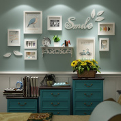 Solid wood Photo wall Creative Modern fashion Living room Multi Picture Photo Frames combination