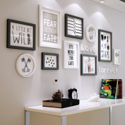 Creative Solid wood Photo wall Modern simple Living room Photo Frames wall Multi Picture Photo Frames combination