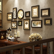 Modern fashion Solid wood Photo wall Creative Living room Multi Picture Photo Frames combination