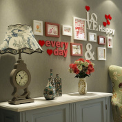 Modern Creative Solid wood Photo wall Living room Photo Frames wall white Multi Picture Photo Frames combination