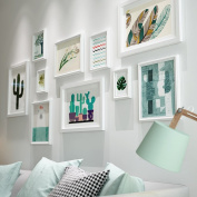 Creative Solid wood Photo wall Small fresh Living room Photo Frames wall Multi Picture Photo Frames combination