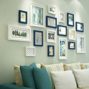 Modern fashion simple Solid wood Photo wall Living room Photo Frames wall Multi Picture Photo Frames combination