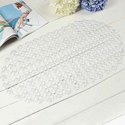 LUFA New Bathroom Tub Non-Slip Bath Floor Bubble Shower Tub Mat Plastic Rubber PVC transparent