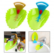 Itian 2 Piece Leaves Shape Water Faucet Tap Extender Toddler Children Kids Hand Washing Sink Randomly Children Cartoon Water Chute
