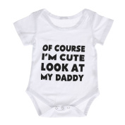 Domybest Newborn Baby Summer Rompers Jumpsuit Short Sleeve Boys Girls Vest Letter Printed Babygrows