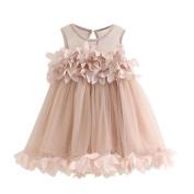 Fanxing Girls Flower Princess Dress Pageant Sleeveless Party Wedding Print Dresses