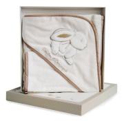 Doudou et Compagnie Rabbit Bath Cape with Glove
