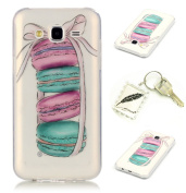 Slim Polyurethane Bumper Case for Samsung Galaxy J5 (2015) J500 (13cm ) Soft Protective Flexible Lightweight Shock Resistant. Slim Silicone Cover Case Cover Cap – Photo Frame Keychain #AB 2
