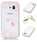 Slim Bumper Case PU Case for Samsung Galaxy S6 Soft Protective Flexible Soft Lightweight Shock Resistant. Slim Silicone Cover Case Cover Cap – Photo Frame Keychain # AH 8