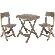 Adams Manufacturing Resin Quik-Fold Cafe Set, Portobello