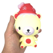 Christmas Cat Santa Claus Snowman Cream Scented Squishy Slow Rising Squeeze Soft Toy Phone Charm