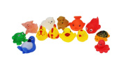 Winkey Baby Shower Toy One Dozen 13pcs Rubber Animals With Sound Baby Shower Party Favours Toy