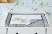 Kraft Kids Changing Mat White Thin Diamante On Grey Waterproof