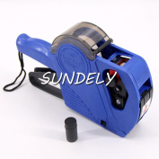 SUNDELY® Blue 8 Digit Date Numbe Price Gun/ Pricing Labeller kit with Labels Spare ink