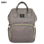 New Land Large Baby Nappy Backpack Mommy Changing Bag Mummy Nappy- Grey