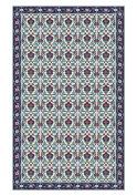 Huella Deco h1006-ca-xs Fleurs Rug Carpet Mat Floor, Vinyl, 57 x 96 cm