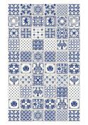 Huella Deco h1003-ca-xs Azulejos Rug Carpet Mat Floor, Vinyl, 57 x 96 cm