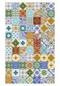 Huella Deco h1002-ca-xs Maiolica Rug Carpet Mat Floor, Vinyl, 57 x 96 cm