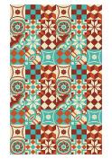 Huella Deco h1014-ca-xs cementine Rug Carpet Mat Floor, Vinyl, 57 x 96 cm