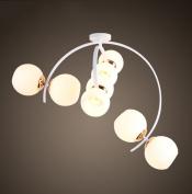 PIGE Creative Post - Modern Nordic Pastoral Elements Glass Ball Hanging Lighting Living Room Bedroom Restaurant Chandeliers