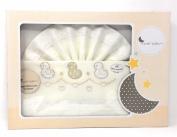 Triptico Sheets 100% Cotton minicuna 50 x 80 – (Fitted Sheet + Top Sheet + Pillowcase) beige