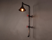 SUBBYE Wall Sconce Creative Retro Industrial Style Water Pipe Wall Lamp Loft Restaurant Work Lights American style Bar Corridor Balcony Wall Lights [Efficiency:A+]