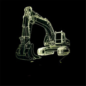 SIRIUS HEART Excavator 3D Lights Colourful Remote Control + Touch 3D LED Lamp Creative 3D Small Lamp