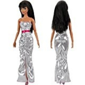 DSstyles 5 pcs Fashion Handmade Mini Party Dress Clothes Outfit For Barbie Doll Toy